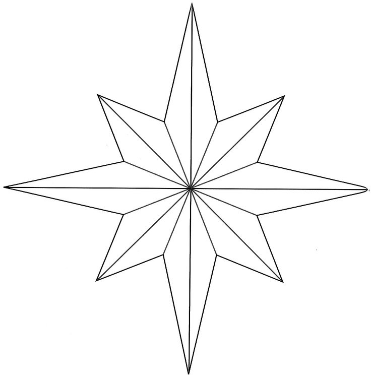 eight pointed star coloring page